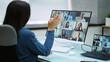 Virtual Remote Video Meeting Call Waving