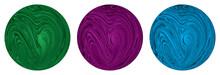 Decorative Sphere. Abstract Round Spiral Striped Design Element
