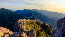 Sunset View Of Beautiful Mountainous Landscape From Velky Rozsutec, Mala Fatra.