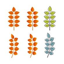 Autumn Element Vector Icon Design Illustration