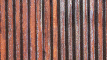 Zinc Roof Or Wall Showing Red Orange Color Of Rusty Surface After Using Over Years