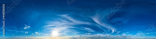 Canvastavla Seamless 360 degree spherical panorama of the evening sky