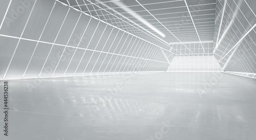 Valokuva Illuminated corridor interior design