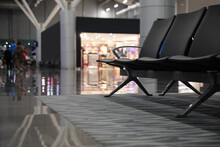 Waiting Area With Seats In Airport Terminal