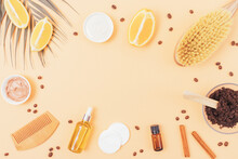 Beauty And Body Care Flat Lay Composition