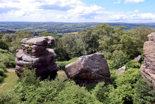 Looking Out Over The Yorkshire Dales From Brimham Rocks