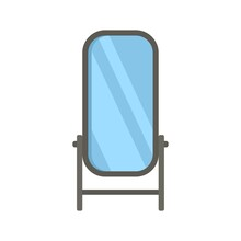 Home Mirror Icon Flat Isolated Vector