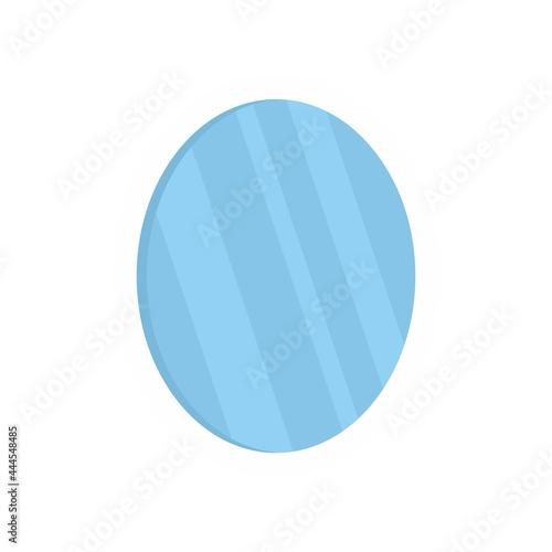 Obraz na plátně Old mirror icon flat isolated vector