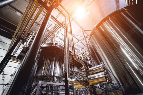 Craft beer brewing equipment in privat brewery Fotobehang