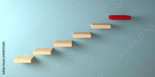 Fotografia Ascending upwards steps - 3D render