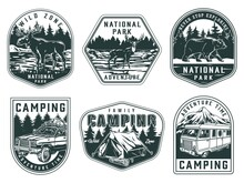 National Park And Camping Labels