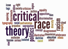 Word Cloud With Critical Race Theory Concept, Isolated On A White Background