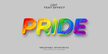 Pride Text, Editable Colorful Style Text Effect