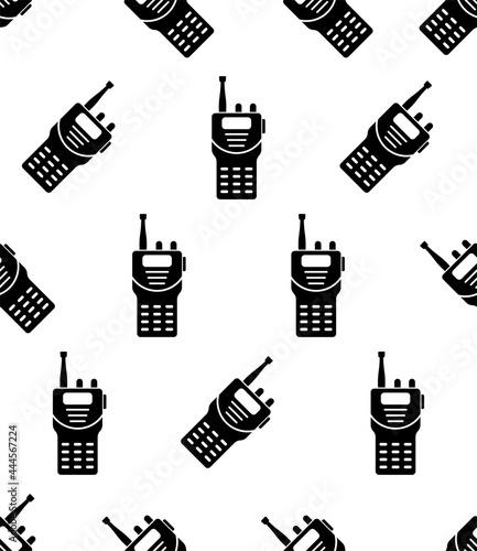 Fotografie, Obraz Walkie Talkie Icon Seamless Pattern, Handheld Portable, Two Way Radio Transceive