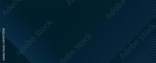 Dark blue lines technology futuristic background. Minimal vector banner design
