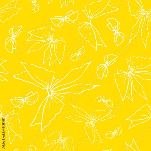 Tableau sur Toile Vivid outline bowknots seamless pattern