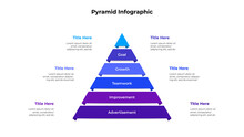 Creative Pyramid Infographic With 6 Options Or Steps. Template For Business Presentation. Vector Info Graphic Element