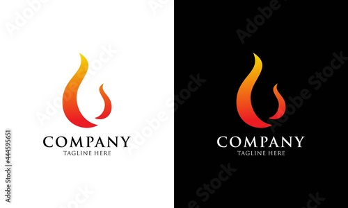 Fotografie, Obraz vector fire flames sign illustration isolated - fire icon logo