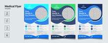 Medical Flyer Design Pamphlet Vector Template In A4 Size Medical Healthcare Flyer Design