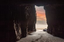 Famous Cathedral Caves At The Beach Of New Zealands South Island