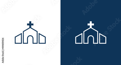 Canvas Church icon illustration isolated vector sign symbol