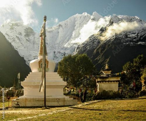 Obraz na płótnie Super stupa Tengboche area Everest