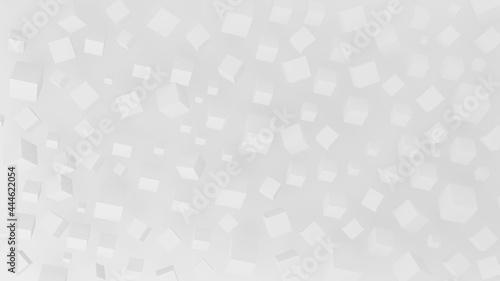 Fotografia 3D illustration of randomly rotated cubes
