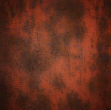 Orange Rusty Brown Metallic Abstract Background.