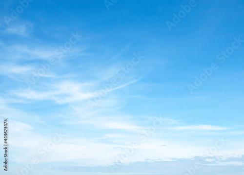 Fototapeta The vast blue sky and clouds sky
