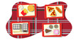 Various food of different cuisines of the world on a tray - Vector