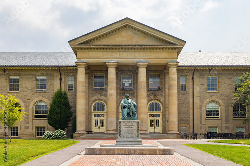 Fotografie, Obraz Sunny exterior view of Goldwin Smith Hall of Cornell University