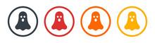 Ghost, Phantom Or Apparition Haunting Icon Vector Illustration.