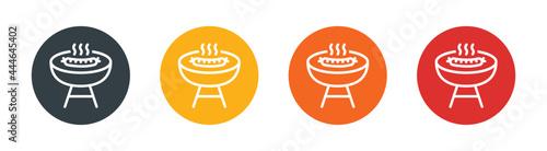 Slika na platnu Barbecue grill icons