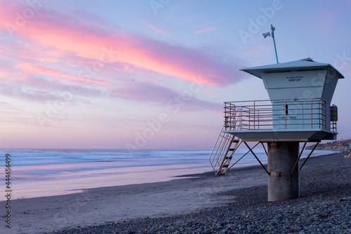 Fotografie, Obraz lifeguard tower on the beach
