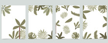 Jungle Background Collection With Banana Leaf And Palm