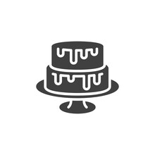 Two Tiered Cake Vector Icon