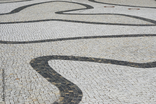 Canvas Print Texture of pavement with granite stones