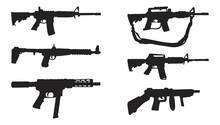 Weapon Gun Silhouette Vector Collection