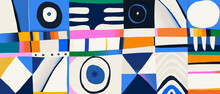 Trendy Abstract Print. Modern Collage Contemporary Pattern. Memphis Style Design.