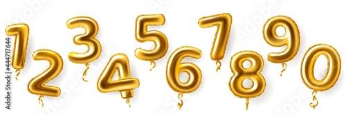 Billede på lærred Golden number balloons