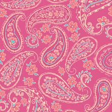 Elegant Pink Paisley Pattern