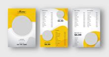 Food Menu Flyer Poster. Brochure Design For Restaurant Cafe