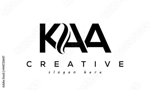 Photo Letter KAA creative logo design vector