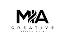 Letter MIA Creative Logo Design Vector