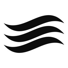 Water Waves, Waving, Wavy, Curve Lines Illustration