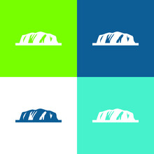 Ayers Rock Flat Four Color Minimal Icon Set