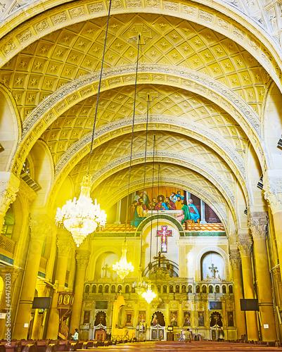 Valokuva Interior of St Mark Coptic Cathedral in Alexandria, Egypt