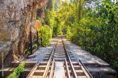Fotografia, Obraz The Death Railway crossing kwai river in Kanchanaburi Thailand