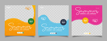 Special Ice Cream Menu Promotion Social Media Post Banner Template