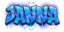 Graffiti Styled Name Design - Janna